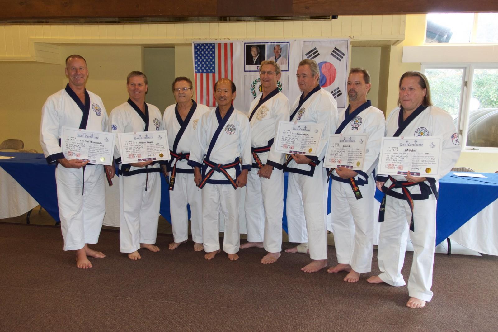 Five Moo Duk Kwan 8th Dan Rank Certifications Awarded