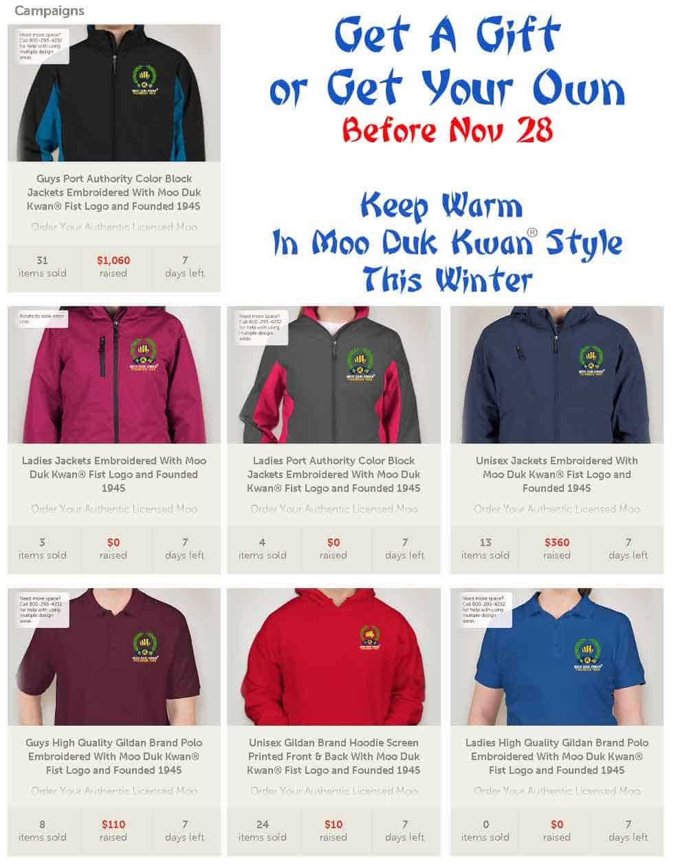 Order online before November 28