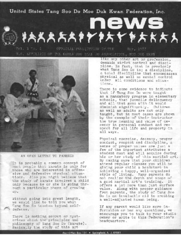 thumbnail of 1977 05 Usa Moo Duk Kwan Federation Newsletter