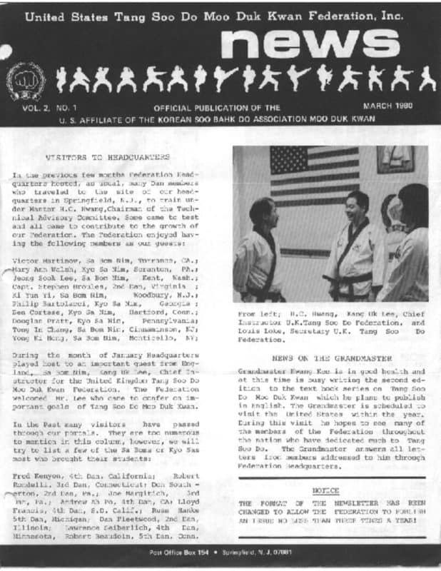 thumbnail of 1980 03 Usa Moo Duk Kwan Federation Newsletter