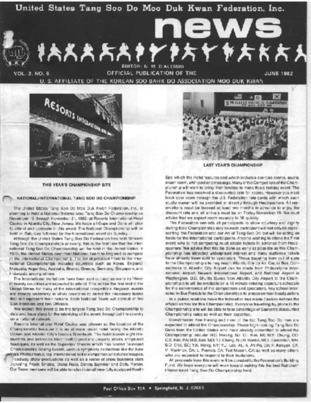 thumbnail of 1982 06 Usa Moo Duk Kwan Federation Newsletter