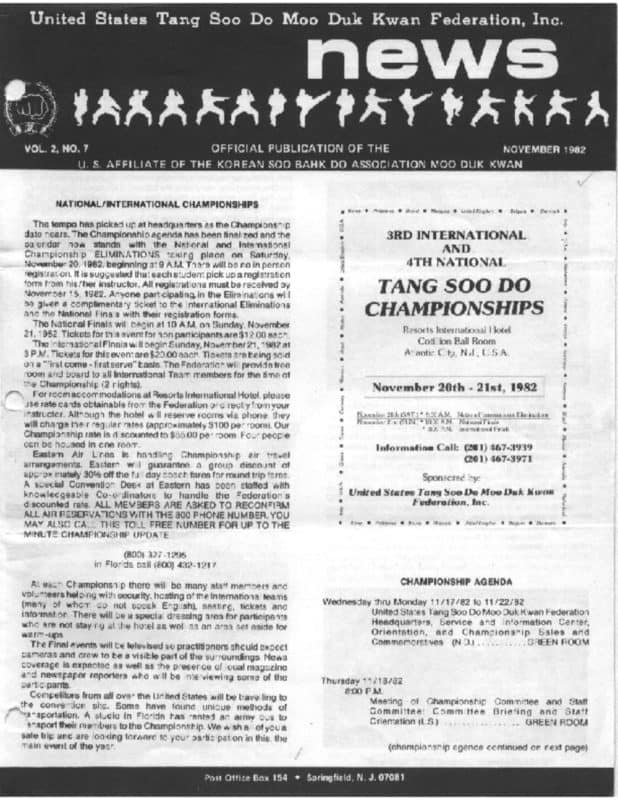 thumbnail of 1982 11 Usa Moo Duk Kwan Federation Newsletter