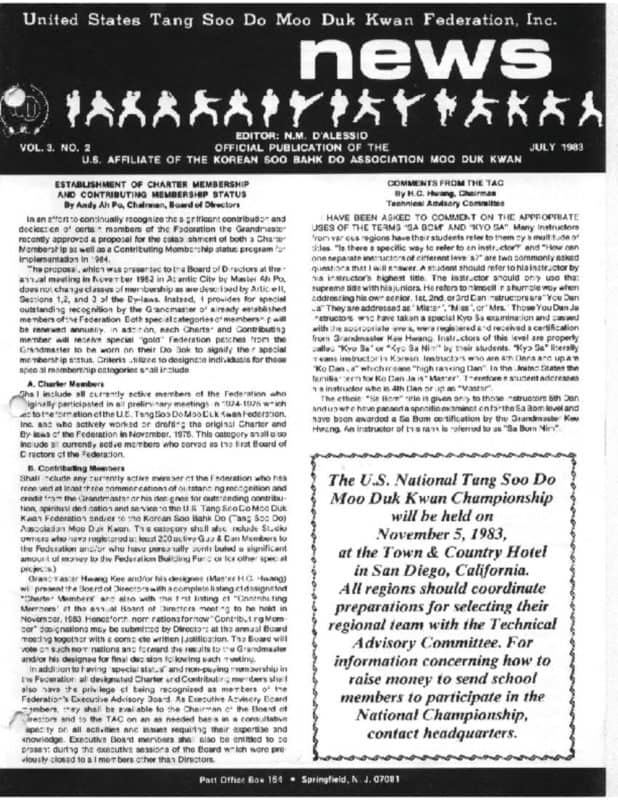 thumbnail of 1983 07 Usa Moo Duk Kwan Federation Newsletter
