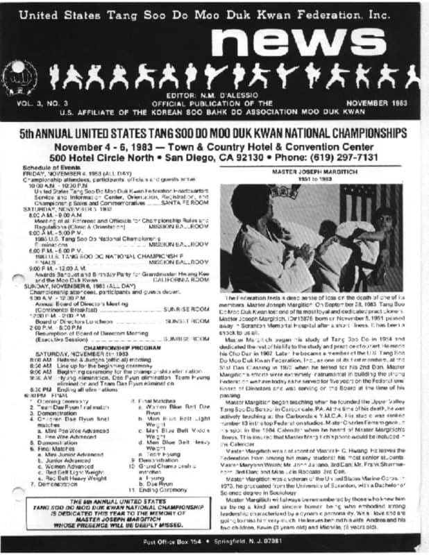 thumbnail of 1983 11 Usa Moo Duk Kwan Federation Newsletter