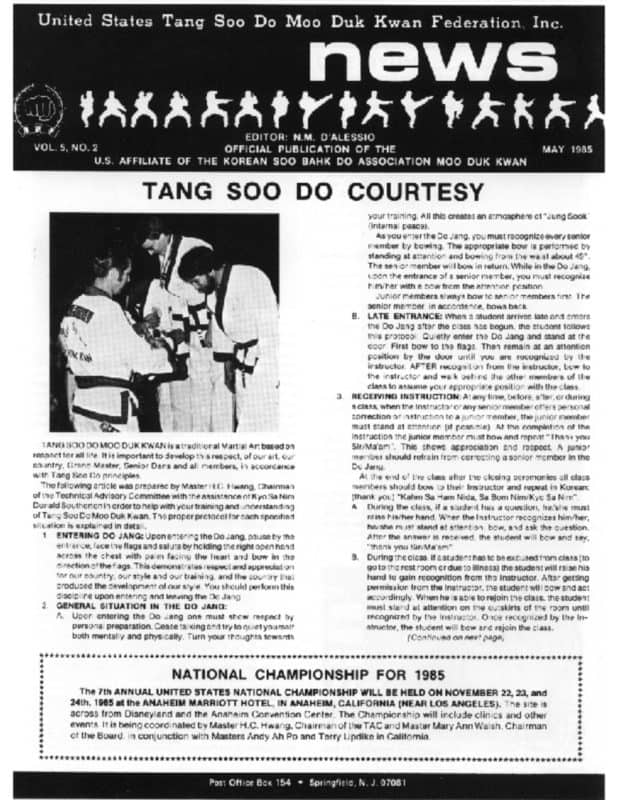 thumbnail of 1985 05 Usa Moo Duk Kwan Federation Newsletter