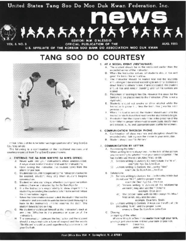 thumbnail of 1985 08 Usa Moo Duk Kwan Federation Newsletter