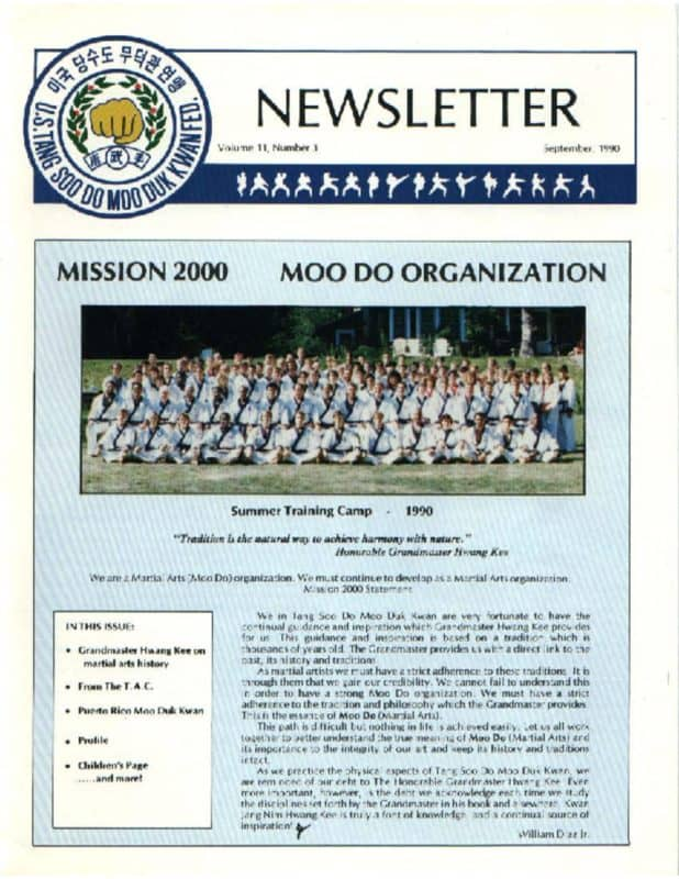 thumbnail of 1990 09 Usa Moo Duk Kwan Federation Newsletter