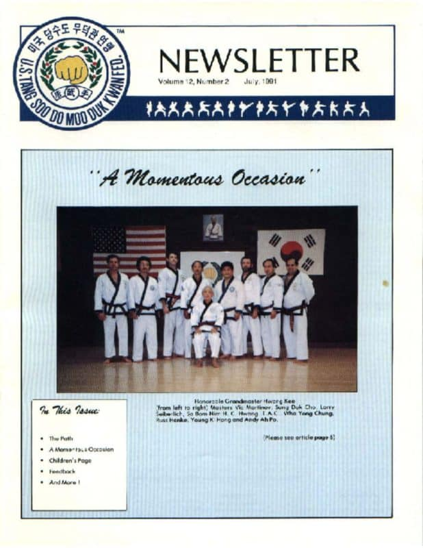 thumbnail of 1991 07 Usa Moo Duk Kwan Federation Newsletter
