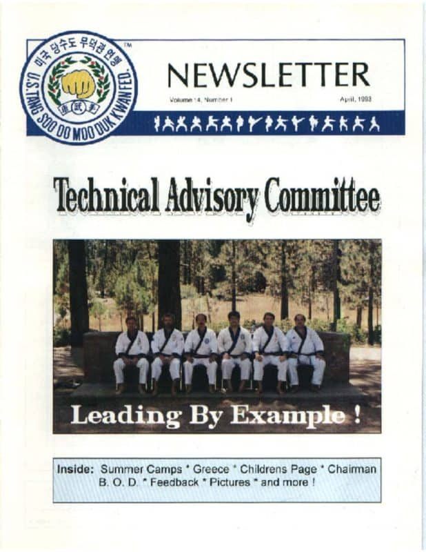 thumbnail of 1993 04 Usa Moo Duk Kwan Federation Newsletter