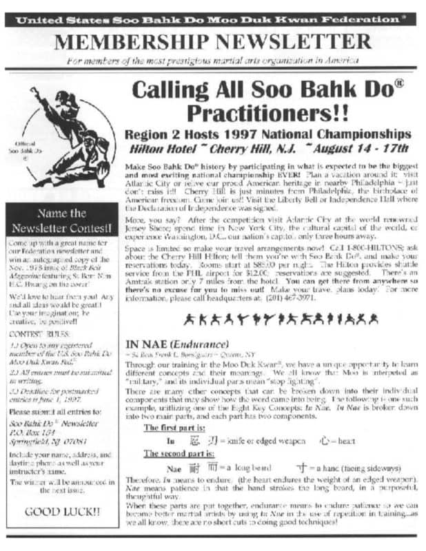 thumbnail of 1997 04 Usa Moo Duk Kwan Federation Newsletter