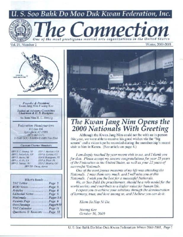 thumbnail of 2001 04 Usa Moo Duk Kwan Federation Newsletter