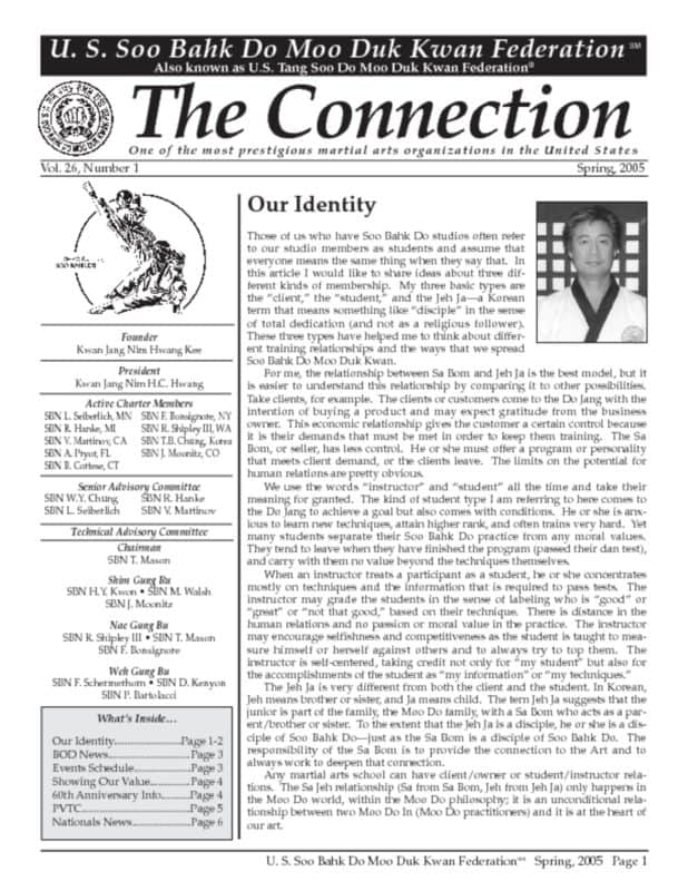 thumbnail of 2005 05 Usa Moo Duk Kwan Federation Newsletter