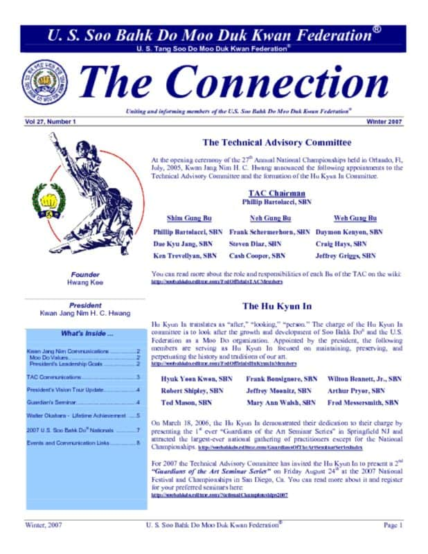 thumbnail of 2007 04 01 Usa Moo Duk Kwan Federation Newsletter