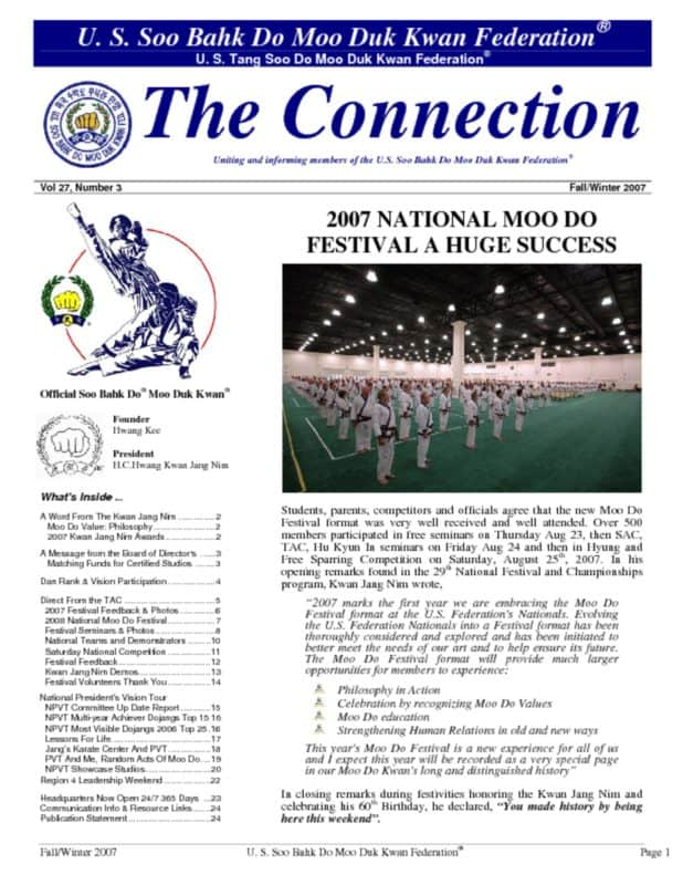 thumbnail of 2007 12 01 Usa Moo Duk Kwan Federation Newsletter