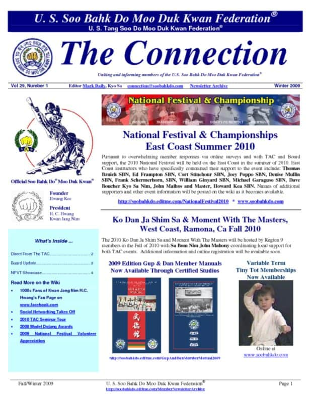 thumbnail of 2009 12 Usa Moo Duk Kwan Federation Newsletter
