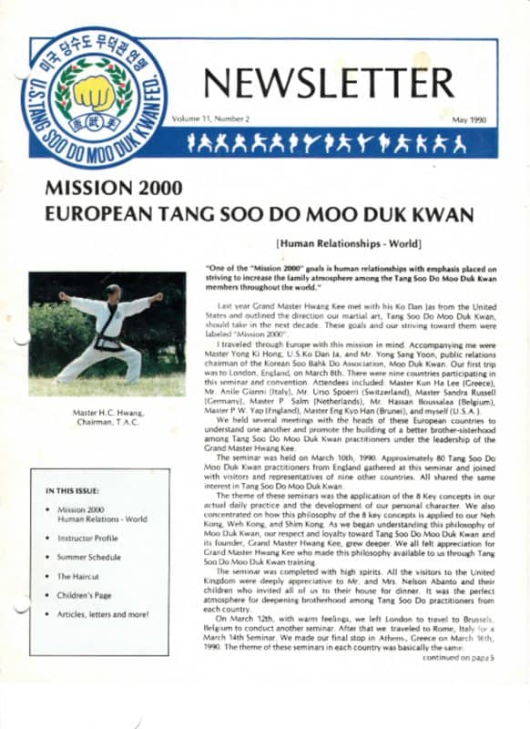 thumbnail of 1990 05 Usa Moo Duk Kwan Federation Newsletter