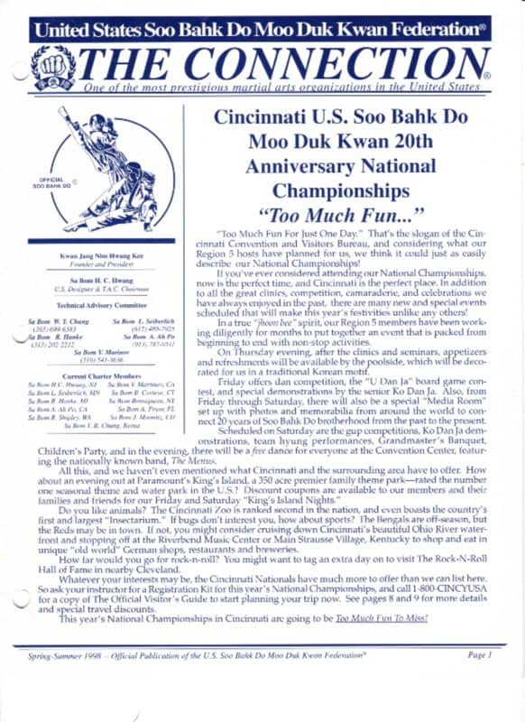 thumbnail of 1998 Spring Summer Usa Moo Duk Kwan Federation Newsletter