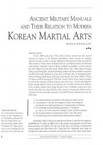 Ancient Military Manuals And Their Relation To Modern Korean Martial Arts